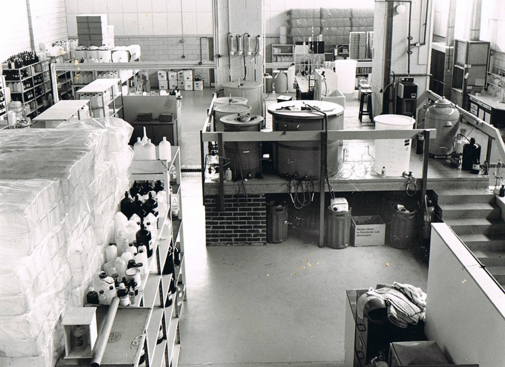 Our factory floor circa 1979